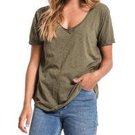 Z Supply Women's Cotton Slub V-Neck Short-Sleeve T-Shirt