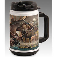 American Expedition Wildlife Collage Series Moose Plastic Thermal Mug