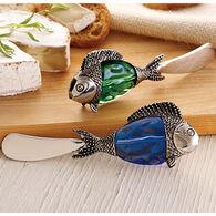 Mud Pie Glass Bead Fish Spreader