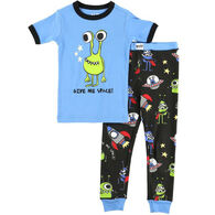 Lazy One Boys' Give Me Space Alien PJ Set