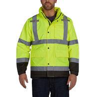 Utility Pro Men's Pro Grade Hi Visibility Waterproof Rain Jacket with Teflon Fabric Protector