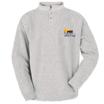 ESY Mens Sunset Moose Henley Shirt