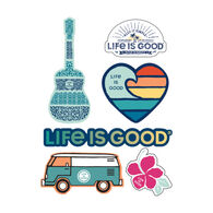 Life is Good Beach Six-Pack Sticker Pack