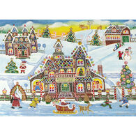 Peter Pauper Press Gingerbread Village w/Keepsake Box Deluxe Holiday Cards