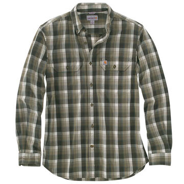 Carhartt Men's Big & Tall Fort Plaid Long-Sleeve Shirt