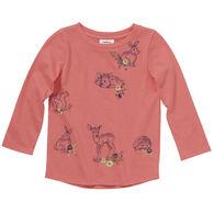 Carhartt Toddler Girl's Forest Friends Long-Sleeve Shirt