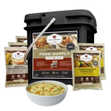 Wise 84 Serving Entree & Breakfast Grab & Go Food Kit