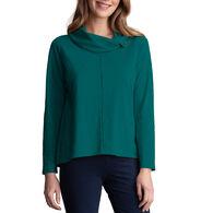 Habitat Women's Button Cowl Neck Long-Sleeve Top