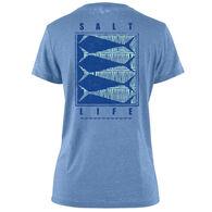 Salt Life Women's Optic Fish Boyfriend Sunburnt Short-Sleeve T-Shirt
