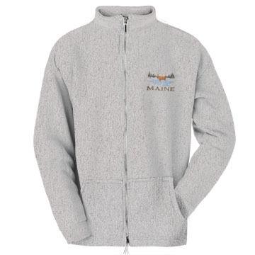 ESY Mens Moose Full Zip Sweatshirt