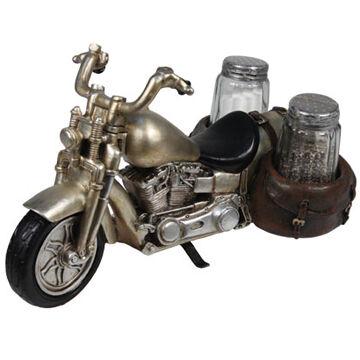 Rivers Edge Roads End Motorcycle Salt & Pepper Shaker Holder