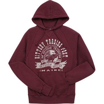 Lakeshirts Mens Kittery Trading Post Moose Hooded Sweatshirt