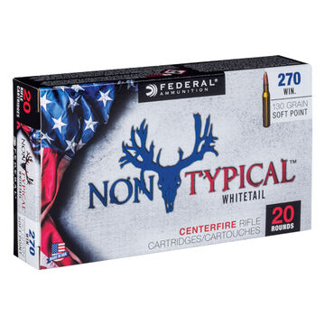 Federal Non-Typical 270 Winchester 130 Grain Soft Point Rifle Ammo (20)