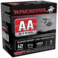 """Winchester AA Steel 12 GA 2-3/4"""" 1 oz. #8 Shotshell Ammo (25)"""