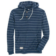 johnnie-O Men's Outboard Striped Hooded Henley Long-Sleeve Pullover
