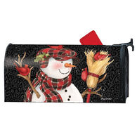 MailWraps Snowman with Broom Magnetic Mailbox Cover
