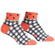 Sock It To Me Women's One In A Melon Turn Crew Sock
