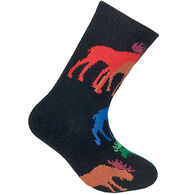 Wheel House Designs Kid's Colorful Moose Sock