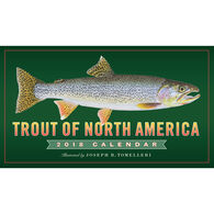 Trout of North America 2018 Wall Calendar by Joseph R. Tomelleri