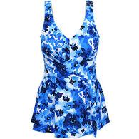 Maxine Women's Cobalt Floral Swimdress