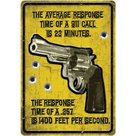 Rivers Edge Average Response Embossed Tin Sign