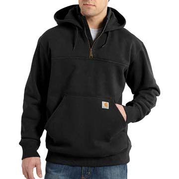 Carhartt Mens Big & Tall Paxton Heavyweight Zip Mock Hooded Sweatshirt