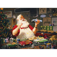 Outset Media Jigsaw Puzzle - Santa Painting Cars