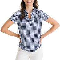 Southern Tide Women's Tessa Intercoastal Popover Short-Sleeve Shirt