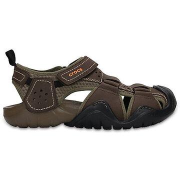 Crocs Mens Swiftwater Leather Fisherman Sandal