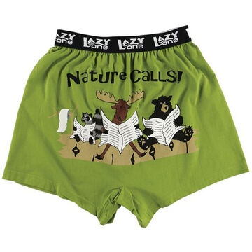 Lazy One Mens Nature Calls Comical Boxer Short