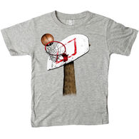 Wes And Willy Boy's Basketball Hoop Short-Sleeve T-Shirt
