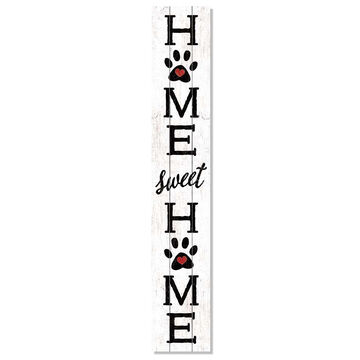 My Word! Home Sweet Home Paw Prints Porch Board