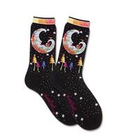 K. Bell Women's Mystic Moon Sock