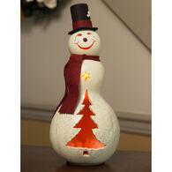 Meadowbrooke Gourds Easton Medium Lit Snowman Gourd