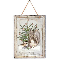 Timeless By Design Winter Welcome Rectangle Slate