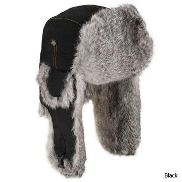 Mad Bomber Mens Supplex Fur Trim Bomber Hat
