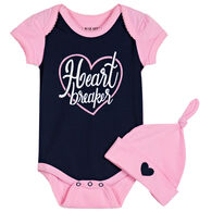Hatley Infant Girl's Little Blue House Heartbreaker Bodysuit with Hat