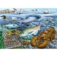 Outset Media Tray Puzzle - Life in the Atlantic Ocean