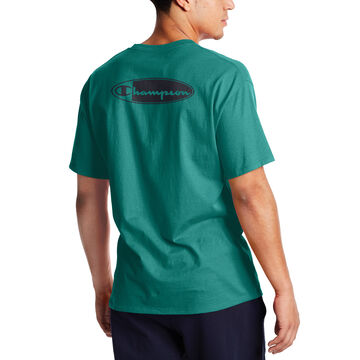 Champion Mens Classic Script Oval Logo Short-Sleeve T-Shirt