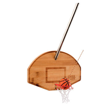 Mellow Militia Free Toss Deluxe Basketball Swinging Game w/ Telescoping Pole
