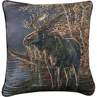 Manual Woodworkers & Weavers Moose In Water Pillow