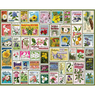 White Mountain Jigsaw Puzzle - State Flower Stamps