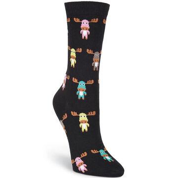 K. Bell Womens Cute Moose Sock