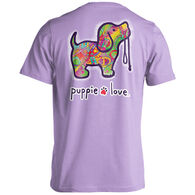 Puppie Love Women's Abstract Pup Short-Sleeve T-Shirt
