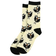 Lazy One Men's Bat Moose Crew Sock