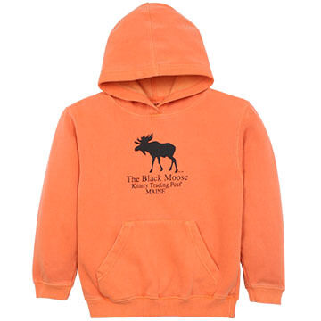 Original Design Youth Black Moose Hooded Sweatshirt