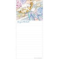 Pumpernickel Press Hydrangea & Flip Flops Magnetic List Notepad