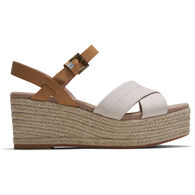 TOMS Women's Canvas and Leather Willow Wedge Sandal