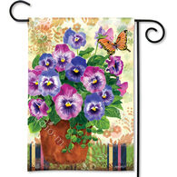 BreezeArt Pretty Pansies Garden Flag