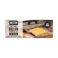 "Weston Gallon 11"" x 16"" Vacuum Bag - 20 Pk."